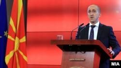 Прес-конференција на министерот за правда Билен Саљији.