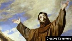 Святой Франциск. Фрагмент картины Хосе де Риберы, 1642 г.