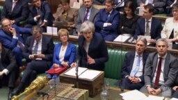 Premijerka Velike Britanije Tereza Mej, u parlamentu 15. januara, uoči glasanja