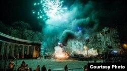 Ցուցարարների և ոստիկանության միջև բախումները Կիևում, 21-ը հունվարի, 2014թ․