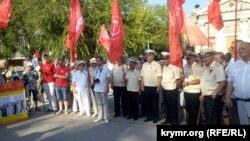 Севастополь, митинг против установки памятника примирению, 4 августа 2017 года