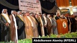 شيوخ عشائر ووجهاء ورجال دين في مؤتمر للوحدة الوطنية بالبصرة