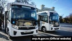 Презентація нових автобусів в Євпаторії, 1 листопада 2018 року