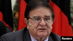 Afghan Defense Minister Abdul Rahim Wardak faced questions over his handling of security.