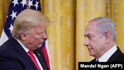 Президент США Дональд Трамп (слева) и премьер-министр Израиля Биньямин Нетаньяху.