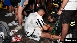 Постраждалий внаслідок тисняви на площі в італійському місті Турин, 3 червня 2017 року