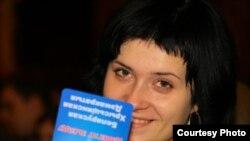 Nasta Palazhanka, the fiancee of Zmitser Dashkevich