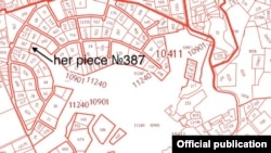 Дом Лейлы Алиевой на Рублево-Успенском шоссе в Москве, план occrp.org
