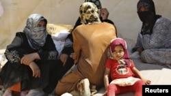 Түркия менен Сириянын чек арасындагы качкындар. Архивдик сүрөт.