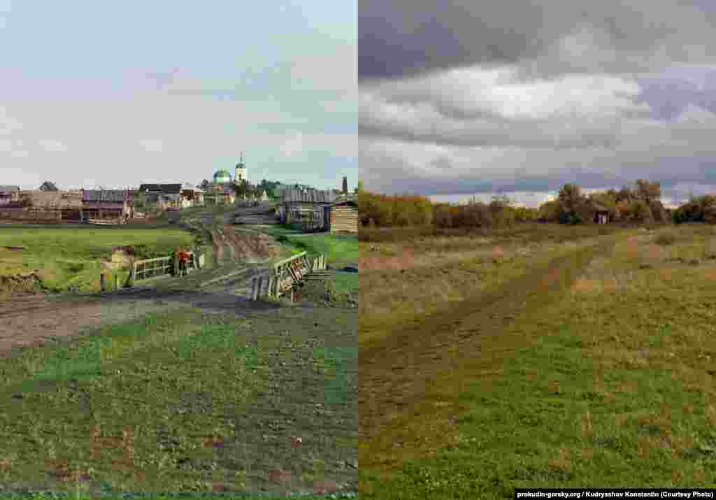 The village of Dryannavo, Russia. 1912/2015