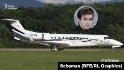 Користувався цим літаком і син дружини Медведчука Оксани Марченко – Богдан