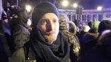 Арвэ Гансэн назіраў за акцыяй пратэсту ў цэнтры Кіева, 19 лютага 2014 году. Фота Гаральда Гофа.