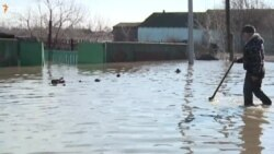 Наводнение на севере Казахстана