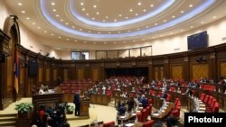 Armenian lawmakers holding a special session of parliament, March 19, 2021