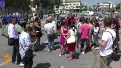 Протест против нападот врз Саше Ивановски