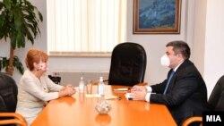 Јавната обвинителка Вилма Русковска и министерот за правда Бојан Маричиќ
