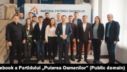 """Echipa Partidului """"Puterea Oamenilor"""", liderul Ruslan Codreanu în centru"""