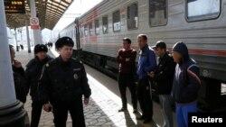 Polițiști ruși în anchetă după expozia din metrou, martie 2017