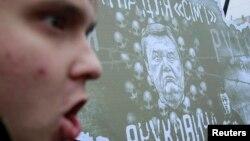 Pamje nga protesta pro-evropiane, 24 nëntor, Kiev