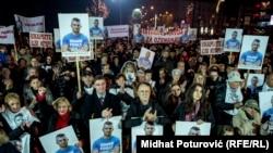 """Protestni skup """"Pravda za Dženana"""", Sarajevo, 21. novembar"""