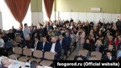 Расширенное совещание по вопросам развития торговой отрасли в администрации Феодосии с участием предпринимателей, февраль 2020 года