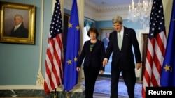 Првите луѓе на ЕУ и САД за надворешна политика Кетрин Ештон и Џон Кери