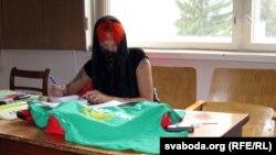 На працэсе Крысьціна Шацікава знаходзілася ў паранджы.