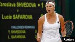 Ярослава Шведова Wimbledon жарысында. Лондон. 4 шілде 2016 жыл.