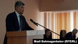 Елжан Біртанов, денсаулық сақтау министрі. Астана, 24 наурыз 2017 жыл.