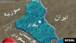 نقشه کشور عراق.