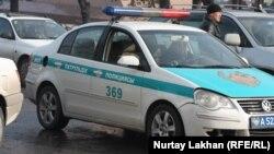 Полицейская машина в Алматы. Иллюстративное фото.