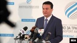 Министерот за транспорт и врски Горан Сугарески