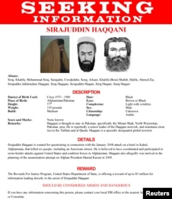 The FBI's wanted poster for Sirajuddin Haqqani
