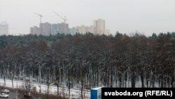 Будоўля жылога комплексу «Парк Чалюскінцаў» у Менску