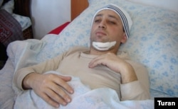 Fikret Huseynli was stabbed, beaten, and left for dead by unknown assailants in Baku in 2006.