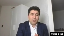 Tajik opposition activist Sharofiddin Gadoev said in a video statement that he was abducted in Moscow by Tajik government officials. (screen grab)