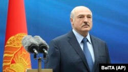 Embattled Belarusian President Alyaksandr Lukashenka (file photo)