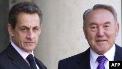 Францияның бұрынғы президенті Николя Саркози мен Қазақстан президенті Нұрсұлтан Назарбаев. Париж, 19 қыркүйек 2011 жыл.