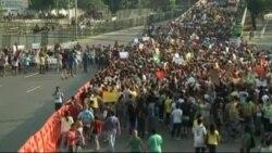 Полицейские Разогнали Протестующих У Стадиона Маракана В Рио-Де-Жанейро