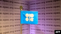 Флаг ОПЕК, члены которой могут пострадать, в результате введения тарифа на импортируемую в США нефть