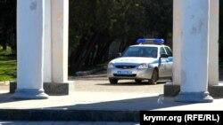 Машина росссийской полиции.