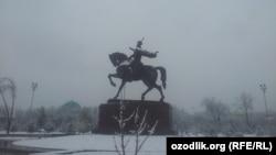Снежный Ташкент.