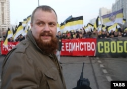 """Дмитрий Демушкин на """"Русском марше"""", 2014"""