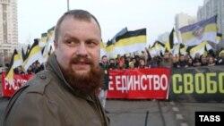 Дмитрий Демушкин, лидер националистического движения «Русские» и организатор «Русских маршей». Москва, 4 ноября 2014 года.