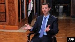 Президент Сирии Башар Асад дает интревью агентству AFP.