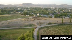 Turkey - A panoramic view of the site of the former Armenian quarter in Van.