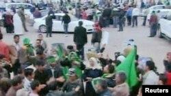 Проправительственная акция в Триполи