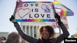 Një mbështetëse e martesës së personave të gjinisë së njejtë