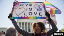 تظاهرات در واشینگتن در حمایت از ازدواج همجنسگرایان
