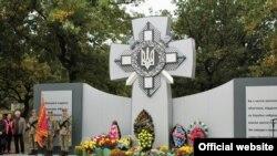 Памятник погибшим на Донбассе украинским военным в Днепре